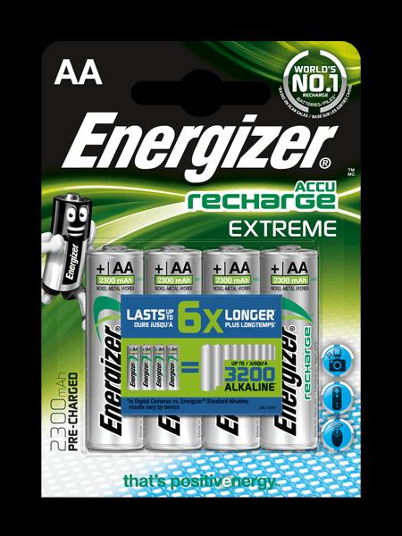 Akumulators, ENERGIZER, ENERGIZER RECH EXTREME AA 2300 FSB4, (new)